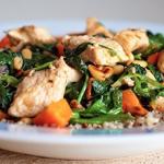 Pilav van quinoa, kip en spinazie | Een heerlijk recept!