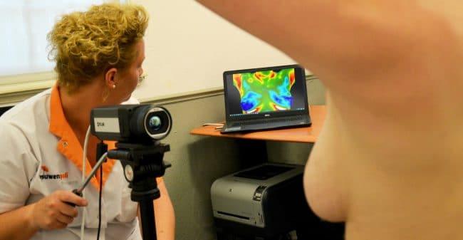 Medische thermografie Over gezonde borsten